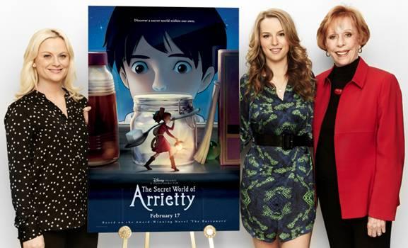 Cast Members: Amy Poehler, Bridgit Mendler and Carol Burnett in Los Angeles to promote the film.