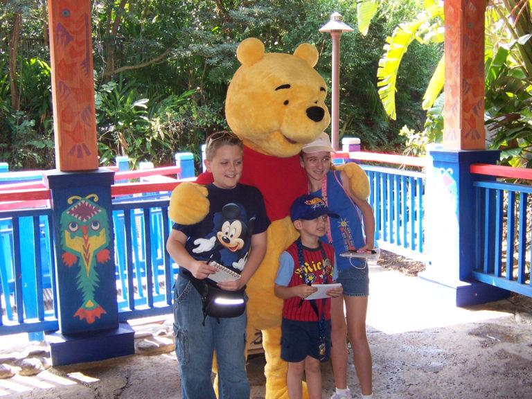 Meeting Pooh in Animal Kingdom 2007