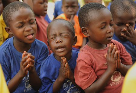 black christians praying