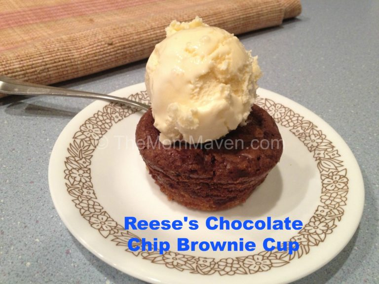 reese's chocolate chip brownie cups