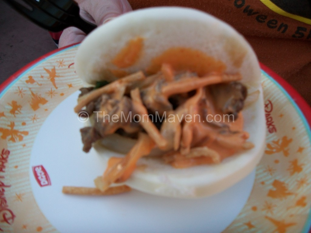 Mongolian Beef on a Steamed Bun