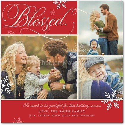 blessed flourish tiny prints - Tiny Prints Christmas Cards