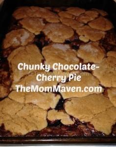 chunky chocolate-cherry pie