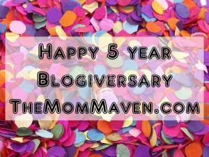Happy 5 year Blogiversary