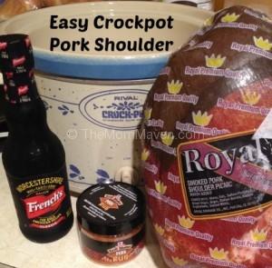 Easy recipes- Crockpot Pork Shoulder