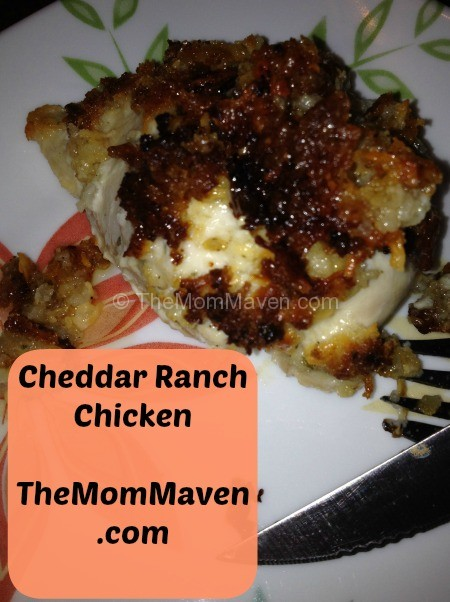 cheddar ranch chicken themommaven.com