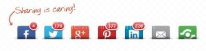shareaholic social sharing buttons