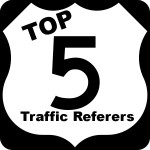 top 5 traffic referers badge
