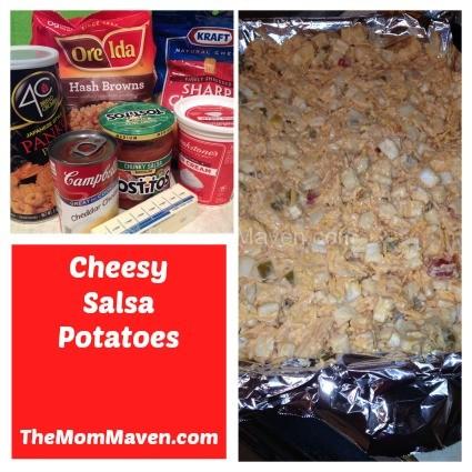 Easy recipes-Cheesy Salsa Potatoes