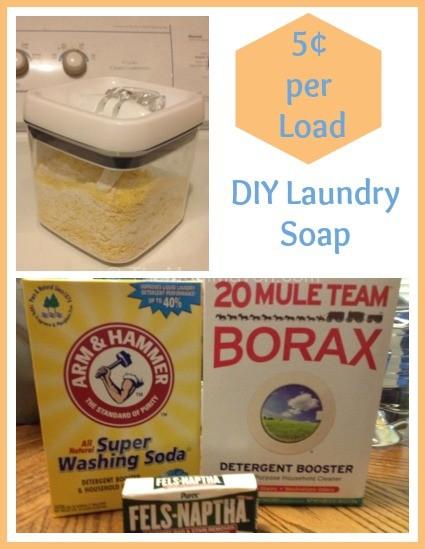DIY 5 Cents per Load Laundry Soap