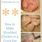 Easy Recipes-How to Make Shredded Chicken in a Crock Pot