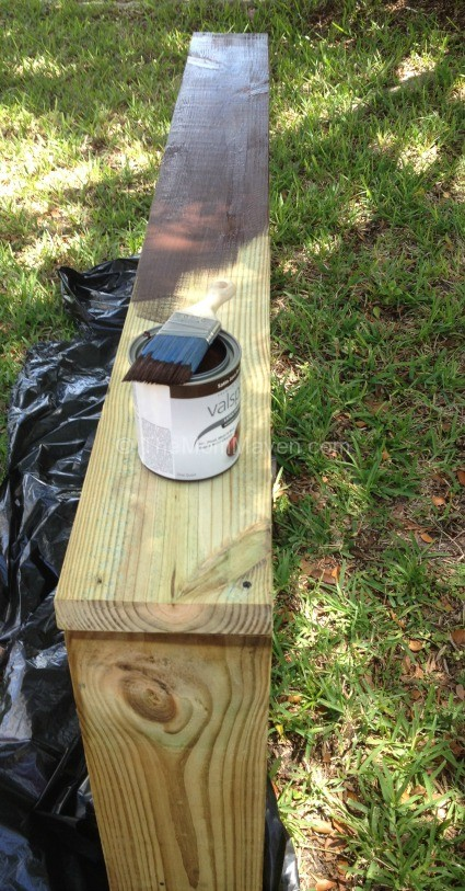 Painting the garden frame
