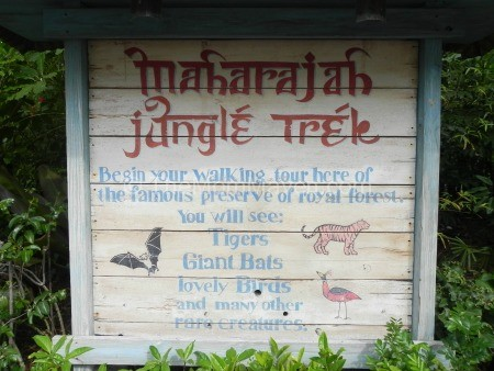 Maharajah Jungle Trek Sign-Animal Kingdom