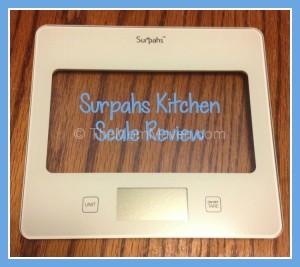 Surpahs Kitchen Scale review