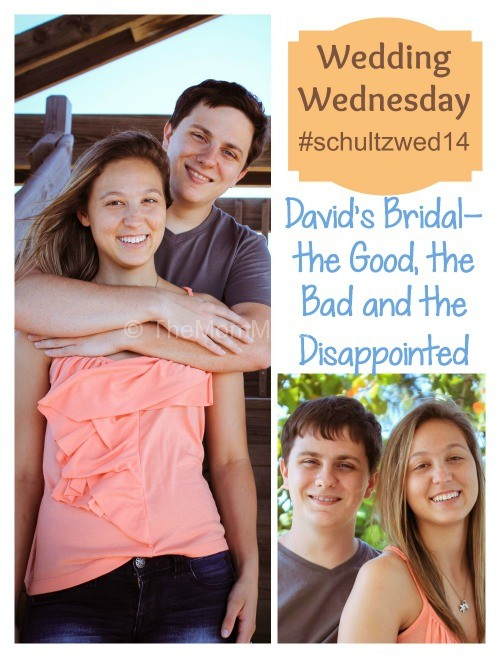 Wedding Wednesday David's Bridal-the good the bad the disappointed