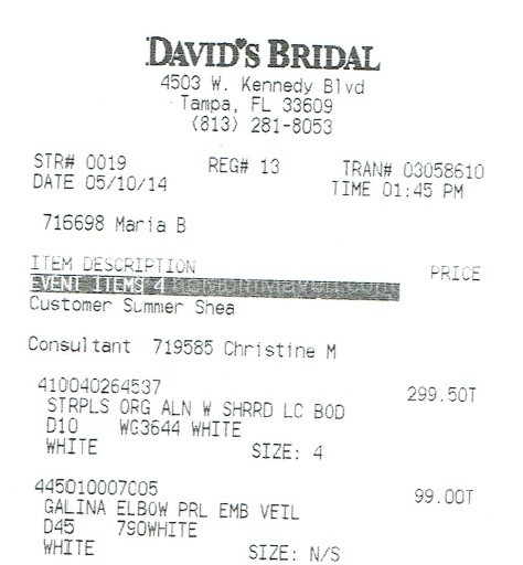 David S Bridal The Good The Bad And The Disappointed