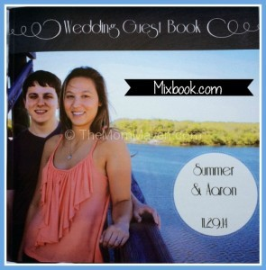 Wedding Guest book from mixbook TheMomMaven.com