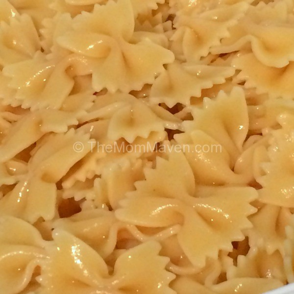East Recipes-Mac Salad-Cooked Bowtie Pasta-TheMomMaven.com