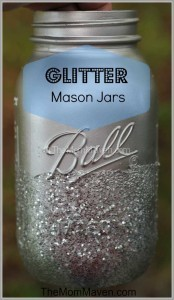 Glitter Mason Jar-wedding Wednesday-TheMomMaven.com