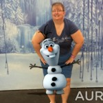 Olaf with Aurasma-Frozen Summer Fun-TheMomMaven.com