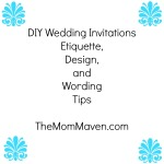 DIY Wedding Invitations-TheMomMaven.com