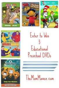 Educational Preschool DVD Prize Pack Giveaway