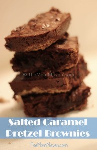 Salted Caramel Pretzel Brownies-TheMomMaven.com