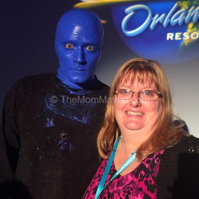 I had my picture taken with a member of BlueMan Group after we attended the show during Niche Parent Conference 2014