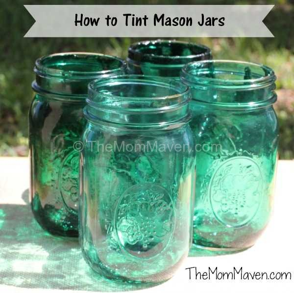 How To Tint Mason Jars The Mom Maven
