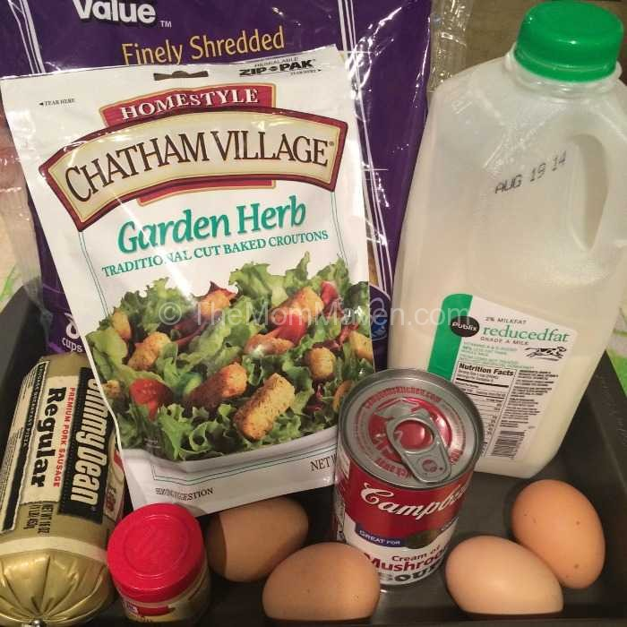 Overnight Breakfast Casserole ingredients-TheMomMaven.com
