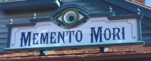 Memento Mori sign at Walt Disney World TheMomMaven.com