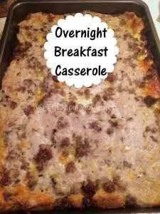 Overnight Breakfast Casserole TheMomMaven.com