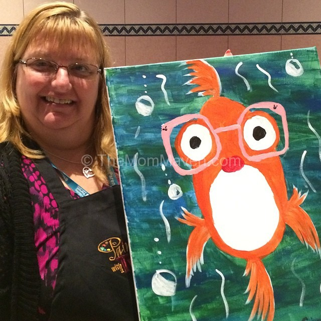 I painted a goldfish at Painting with a Twist at Niche Parent Conference 2014
