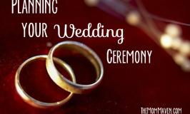 Planning your wedding ceremony TheMomMaven.com