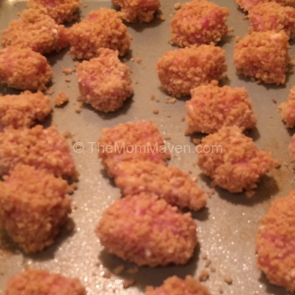 Pork on baking sheet French's Crunch Time Entrees TheMomMaven.com
