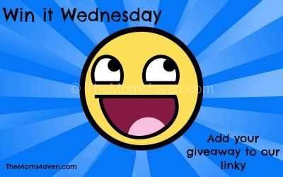 Come add your giveaway to the linky or find some great giveaways to enter here at the weekly Win It Wednesday giveaway linky.