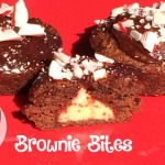 Try these easy Candy Cane Brownie Bites for your Christmas celebration.