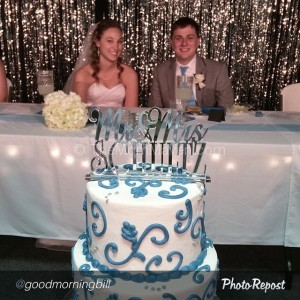 Aaron & Summerwith their Cake