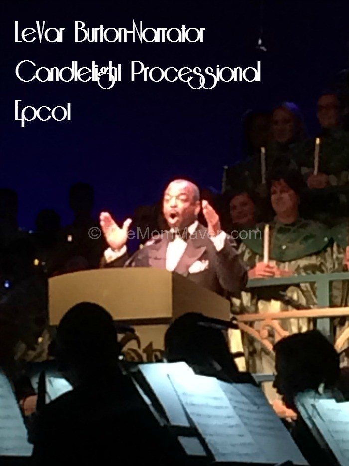LeVar Burton narrator at Epcot's Candlelight Processional