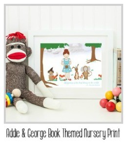Addie & George is Hand-drawn nursery wall art prints and gifts based on beloved stories inspire whimsy and spark creativity in those who love reading.
