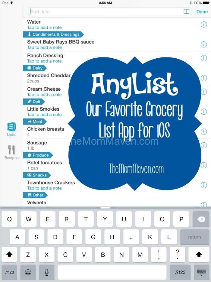 Anylist our favorite grocery list app