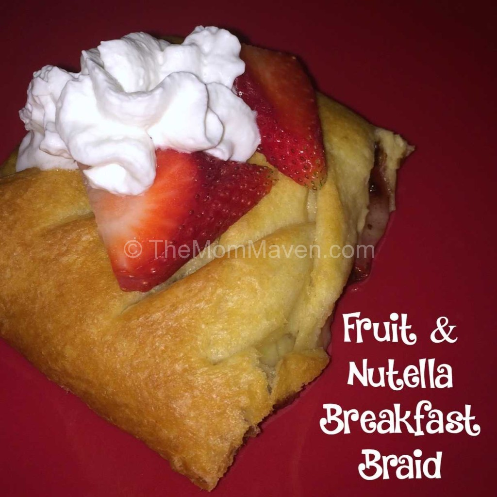 Fruit and nutella Breakfast Braid