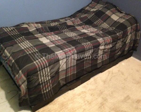 finished pallet bed