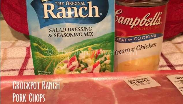 Crockpot Ranch Pork Chops Recipe