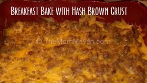 Enjoy this hearty breakfast bake with hash brown crust