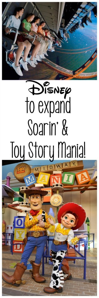 Disney to Expand Soarin and Toy Story Mania
