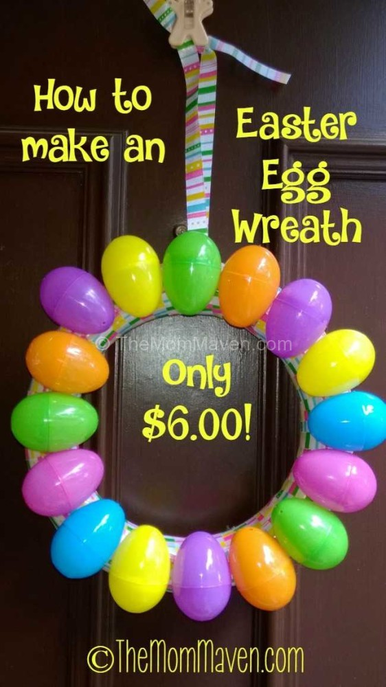 How to make and Easter egg wreath.