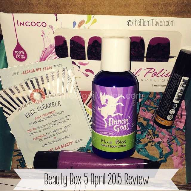 Beauty Box 5 April 2015 review