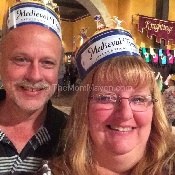 wearing our Medieval Times Crowns