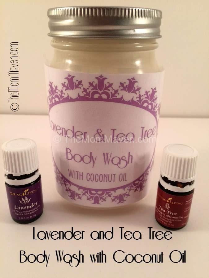 DIY Lavender and Tea Tree Body Wash with Coconut Oil #essentialoils